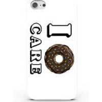 I Doughnut Care Phone Case for iPhone & Android - 3 Colours - Samsung Galaxy S6 Edge - White