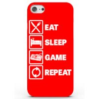 Eat Sleep Game Repeat Phone Case For Iphone & Android - 4 Colours - Samsung Galaxy S6 Edge - Red