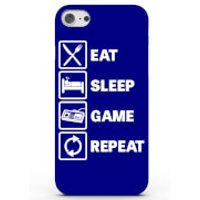 Eat Sleep Game Repeat Phone Case For Iphone & Android - 4 Colours - Samsung Galaxy S6 - Blue