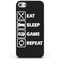 Eat Sleep Game Repeat Phone Case For Iphone & Android - 4 Colours - Samsung Galaxy S6 Edge Plus - Black