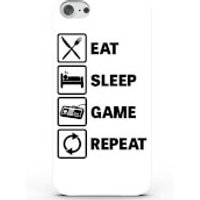 Eat Sleep Game Repeat Phone Case For Iphone & Android - 4 Colours - Iphone 6/6s - White