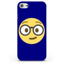 Emoji Nerd Phone Case for iPhone & Android - 4 Colours - Samsung Galaxy S6 - Blue - Nerd Gifts