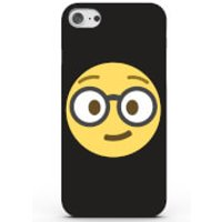 Emoji Nerd Phone Case for iPhone & Android - 4 Colours - Samsung Galaxy S6 - Black - Nerd Gifts