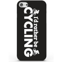 I'd Rather Be Cycling Phone Case for iPhone & Android - 4 Colours - Samsung Galaxy S6 Edge - Black