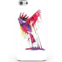 Phone Case - 3D Full Wrap - Plastic - iPhone 6/6s Colourful Paint Bird - White