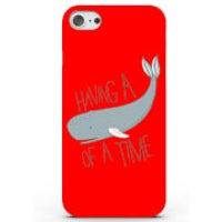 Having a Whale of a Time Phone Case for iPhone & Android - 4 Colours - iPhone 6 Plus - Red - Whale Gifts