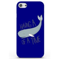 Having a Whale of a Time Phone Case for iPhone & Android - 4 Colours - iPhone 7 Plus - Blue - Whale Gifts