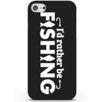 I'd Rather Be Fishing Phone Case For Iphone & Android - 4 Colours - Iphone 6 Plus - Black
