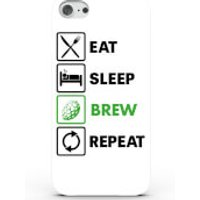 Eat Sleep Brew Repeat Phone Case for iPhone & Android - 4 Colours - iPhone 5c - White