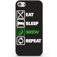 Eat Sleep Brew Repeat Phone Case for iPhone & Android - 4 Colours - iPhone 6 Plus - Black