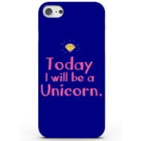 Today I Will Be a Unicorn Phone Case for iPhone & Android - 4 Colours - Samsung Galaxy S6 - Blue