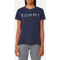 Tommy Hilfiger Womens Tommy Print T-Shirt - Peacoat - L - Blue