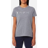 Tommy Hilfiger Womens Tommy Print T-Shirt - Mid Grey Heather - S - Grey