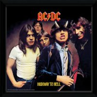AC/DC Highway To Hell - 12 x 12 Inches Framed Album Print - Acdc Gifts