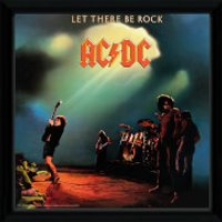 AC/DC Let There Be Rock - 12 x 12 Inches Framed Album Print - Acdc Gifts