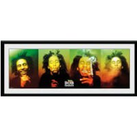 Bob Marley Faces - 30 x 12 Inches Framed Photograph - Bob Marley Gifts