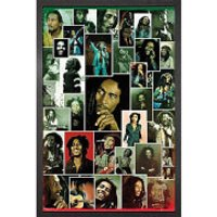 Bob Marley Photo Collage - 61 x 91.5cm Framed Maxi Poster - Bob Marley Gifts