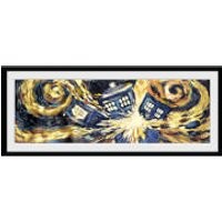 Doctor Who Exploding Tardis - 30 x 12 Inches Framed Photograph - Doctor Who Gifts