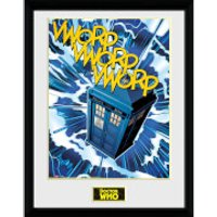 Doctor Who Tardis Comic - 16 x 12 Inches Framed Photograph - Doctor Who Gifts