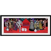 Doctor Who Villains - 30 x 12 Inches Framed Photograph - Doctor Who Gifts