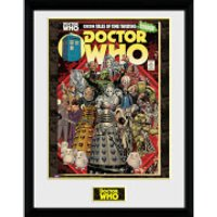 Doctor Who Villains Comic - 16 x 12 Inches Framed Photograph - Doctor Who Gifts