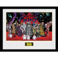 Doctor Who Villains Landscape - 16 x 12 Inches Framed Photograph - Doctor Who Gifts
