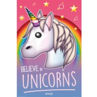 Emoji Believe in Unicorns - 61 x 91.5cm Maxi Poster - Unicorns Gifts