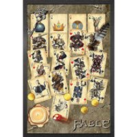 Fable Playing Cards - 61 x 91.5cm Framed Maxi Poster - Cards Gifts