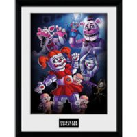 Five Nights at Freddy's Sister Location Group - 16 x 12 Inches Framed Photograph - Sister Gifts