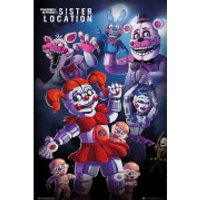 Five Nights at Freddy's Sister Location Group - 61 x 91.5cm Maxi Poster - Sister Gifts