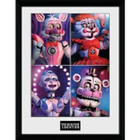 Five Nights at Freddy's Sister Location Quad - 16 x 12 Inches Framed Photograph - Sister Gifts