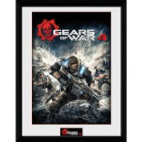 Gears of War 4 Game Cover - 16 x 12 Inches Framed Photograph - Gears Of War Gifts