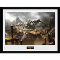 God of War Concept Art Canyon - 16 x 12 Inches Framed Photograph - God Gifts