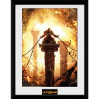 God of War Kratos Chained - 16 x 12 Inches Framed Photograph - God Gifts