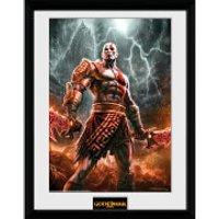 God of War Kratos Lightening - 16 x 12 Inches Framed Photograph - God Gifts