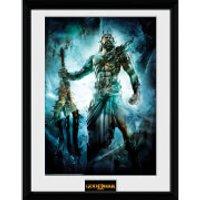 God of War Poseidon - 16 x 12 Inches Framed Photograph - God Gifts