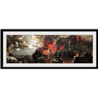 God of War Titan - 30 x 12 Inches Framed Photograph - God Gifts