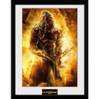 God of War Zeus - 16 x 12 Inches Framed Photograph - God Gifts