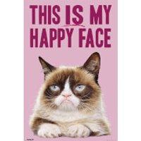 Grumpy Cat Happy Face - 61 x 91.5cm Maxi Poster - Grumpy Gifts