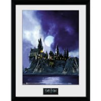 Harry Potter Hogwarts Painted - 16 x 12 Inches Framed Photograph