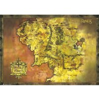 Lord of the Rings Classic Map - 100 x 140cm Giant Poster - Lord Of The Rings Gifts