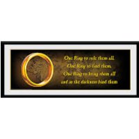 Lord of the Rings One Ring - 30 x 12 Inches Framed Photograph - Lord Of The Rings Gifts