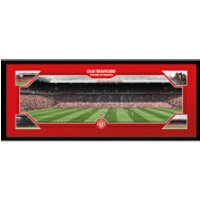 Manchester United Match Day - 30 x 12 Inches Framed Photograph - Manchester United Gifts
