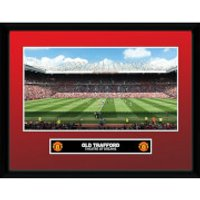 Manchester United Old Trafford 15/16 - 16 x 12 Inches Framed Photograph - Manchester United Gifts