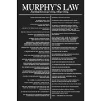 Murphys Law - 61 x 91.5cm Maxi Poster - Law Gifts