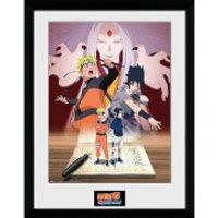 Naruto Shippuden Naruto and Sasuke - 16 x 12 Inches Framed Photograph - Naruto Gifts