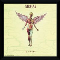 Nirvana In Utero - 12 x 12 Inches Framed Album Print - Nirvana Gifts