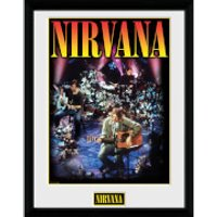 Nirvana Unplugged - 16 x 12 Inches Framed Photograph - Nirvana Gifts