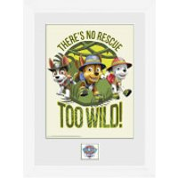 Paw Patrol No Rescue Too Wild - 16 x 12 Inches Framed Photograph - Paw Patrol Gifts