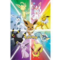 Pokémon Eevee Evolution - 61 x 91.5cm Maxi Poster - Eevee Gifts